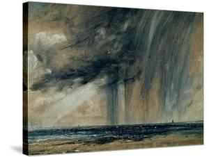Rainstorm over the Sea, C.1824-28 (Oil on Paper Laid on Canvas) by John Constable