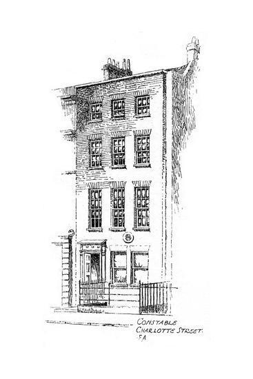 John Constable's House, Charlotte Street, Bloomsbury, London, 1912-Frederick Adcock-Giclee Print
