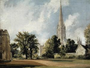 Salisbury Cathedral and the Close, Wiltshire by John Constable