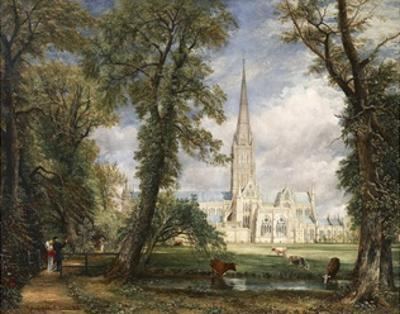 Salisbury Cathedral from the Bishop's Garden by John Constable