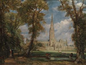 Salisbury Cathedral from the Bishop's Grounds, 1825 by John Constable