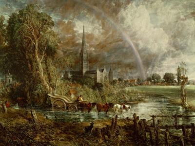Salisbury Cathedral from the Meadows, 1831