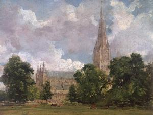 Salisbury Cathedral from the South West by John Constable