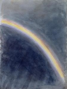 Sky Study with Rainbow, 1827 (W/C on Paper) by John Constable