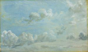 Study of Cumulus Clouds, 1822 (Oil on Paper Laid Down on Panel) by John Constable