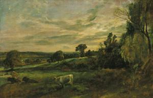 Summer Evening Near East Bergholt, Suffolk by John Constable