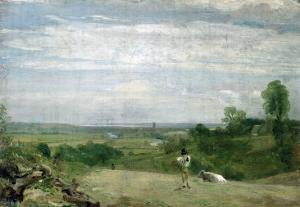 Summer Morning: Dedham from Langham by John Constable