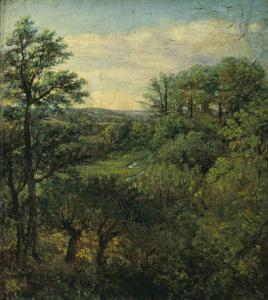 Valley Scene with Trees by John Constable