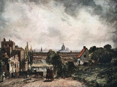 View of the City of London from Sir Richard Steele's Cottage, 19th Century by John Constable