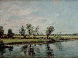 Water Meadows Near Salisbury, c.1820 by John Constable