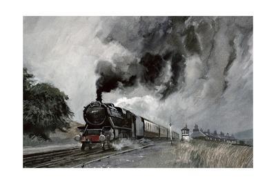 Steam Train at Garsdale, Cumbria