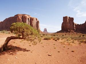 Monument Valley on the Navajo Indian Reservation, North Window, Arizona, USA by John Cornell