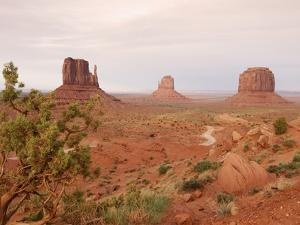 Monument Valley on the Navajo Indian Reservation Showing East Mitten, West Mitten by John Cornell
