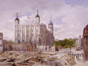 Tower of London, London, 1883 by John Crowther