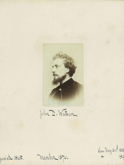 John D. Watson, 1864--Photographic Print