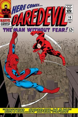 Daredevil No.16 Cover: Spider-Man and Daredevil Charging by John