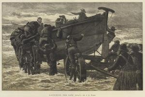 Launching the Life Boat by John Dawson Watson