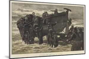 Launching the Life Boat by John Dawson Watson