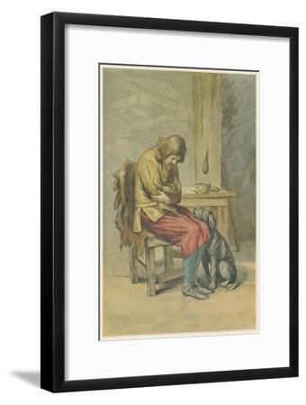 Scene from Robinson Crusoe by Daniel Defoe, 1892