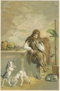 Scene from Robinson Crusoe by Daniel Defoe, 1892 by John Dawson Watson