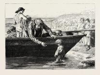Launching the Life Boat-John Dawson Watson-Giclee Print