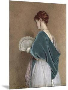 Woman with a Fan, 1871 (Pencil and W/C on Paper) by John Dawson Watson