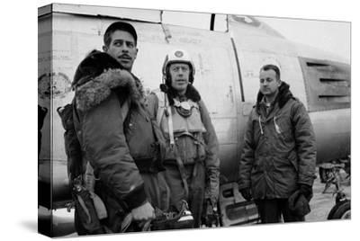 1950: F-86 Sabre Jet Pilots. in Center Is Colonial John C. Meyer