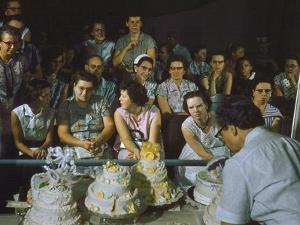 1955: a Man Demonstrates Cake Frosting Techniques at the Iowa State Fair, Des Moines, Iowa by John Dominis