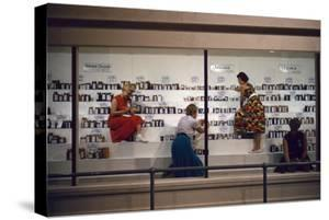 1955: Judges Examining Various Preserves and Butters, at the Iowa State Fair, Des Moines, Iowa by John Dominis