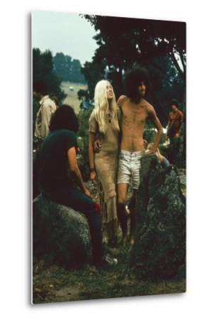 A Couple Stand Together at the Woodstock Music and Arts Fair, Bethel, New York, August 1969