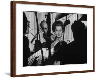 """Actress Tippi Hedren Testing for Hitchcock's New Movie, """"Marnie,"""" at Universal Studios"""