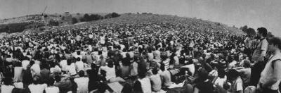Audience at Woodstock Music Festival by John Dominis