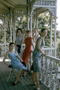 Australian Models Pose on a Porch, Melbourne, Australia, 1956 by John Dominis