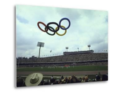 Balloons in the Shape of the Olympic Rings Being Released at the Summer Olympics Opening Ceremonies