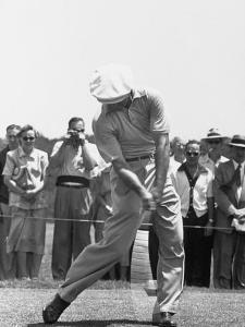 Ben Hogan Hitting a Golf Ball by John Dominis