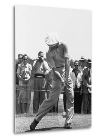 Ben Hogan Hitting a Golf Ball