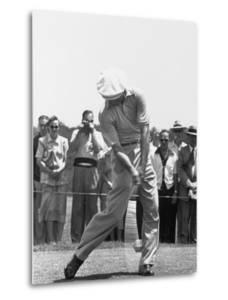 Ben Hogan Hitting a Golf Ball by John Dominis