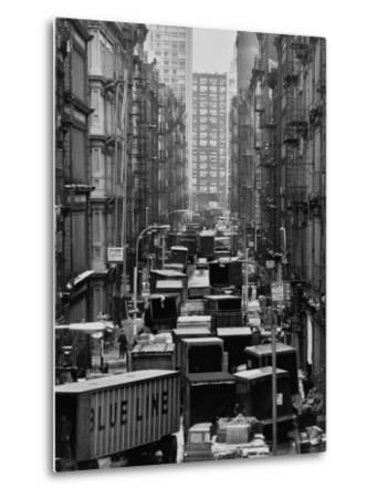 Congested Street in Soho Where More Than a Thousand Artists Live and Work in Huge Lofts
