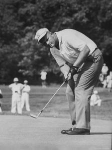 Golfer Jack Nicklaus Playing Golf by John Dominis