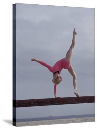 Gymnast Cathy Rigby, Long Beach, California