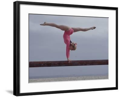Gymnast Cathy Rigby, Long Beach, California