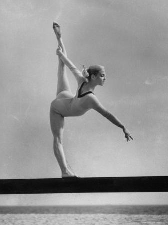 Gymnast Cathy Rigby, Training on Balancing Beam