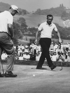 Jack Nicklaus and Arnold Palmer, in Playoff at Nat'L Open Golf Championship by John Dominis