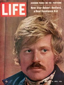 Life 2-6-1970 Cover of Actor Robert Redford, Cr: John Dominis by John Dominis