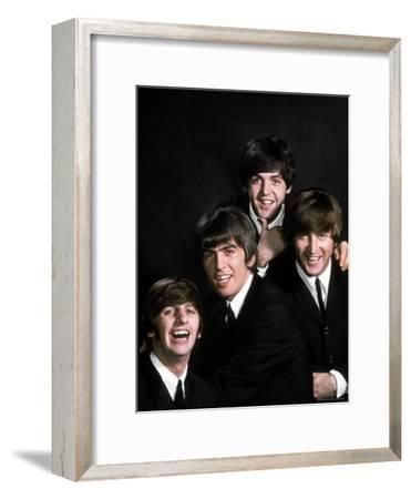 Members of Singing Group the Beatles: John Lennon, Paul McCartney, George Harrison and Ringo Starr