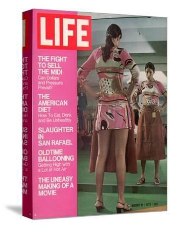 Mini Skirted Woman Shopping for Midi Skirt, August 21, 1970