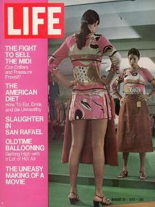Mini Skirted Woman Shopping for Midi Skirt, August 21, 1970 by John Dominis