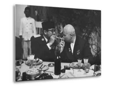 Nikita Khrushchev with Pres. Sukarno