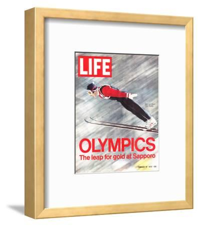 Olympics, Ski Jumper Yukio Kasaya, February 18, 1972