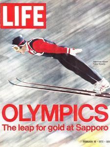 Olympics, Ski Jumper Yukio Kasaya, February 18, 1972 by John Dominis